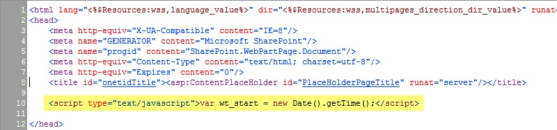 Where do I add the webtuna.js to my site?