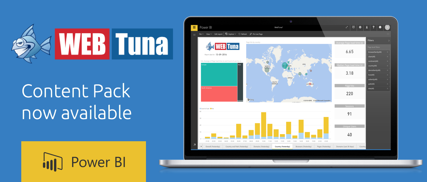 Introducing the new WebTuna PowerBI Content Pack