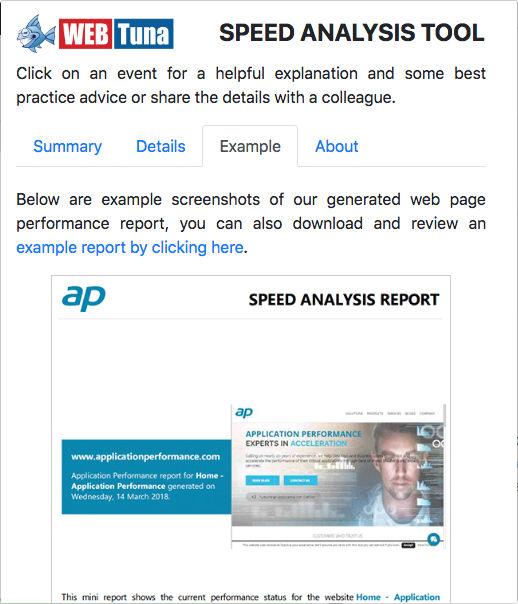 Speed Analysis Tool - WebTuna