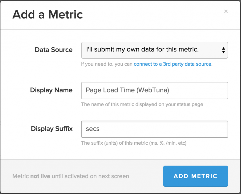 StatusPage.io New Metric